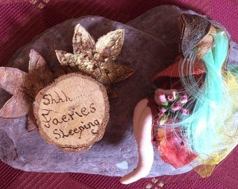 Shh Faeries Sleeping Plaque