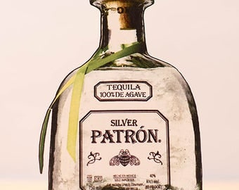 Patron Tequila Bottle Card