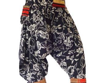 Harem pants; Butterfly Flower, Size: Medium