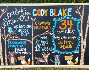 Custom Hand Painted Baby Shower Board/Sign