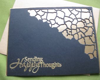 Handmade Sympathy Card - Sending Happy thoughts