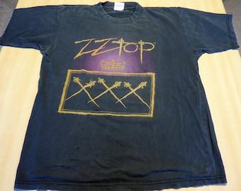 ZZ Top : XXX - Tour T shirt - Original European Tour - 1999 - Vintage !!!!!