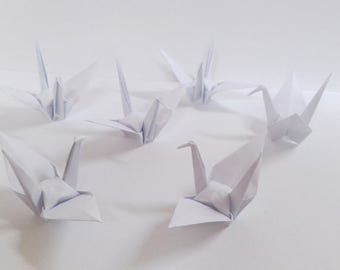 White Small Origami Cranes ** 100 pcs