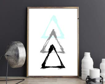 Abstract Triangles Print.