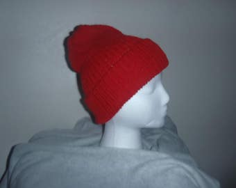 Ruby Red Slouchy Beanie