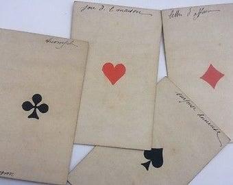 C.1885 Antique Fortune Telling Cards Hand-scripted Rare Old Grimaud Paris France