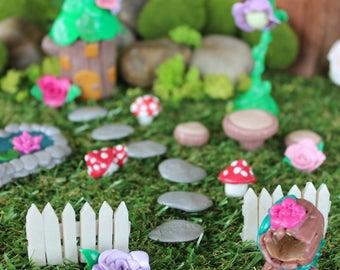 Large Fairy garden box, complete fairy garden kit, fairy house set, mini fairy garden, moveable fairy garden, indoor fairy garden, girls toy