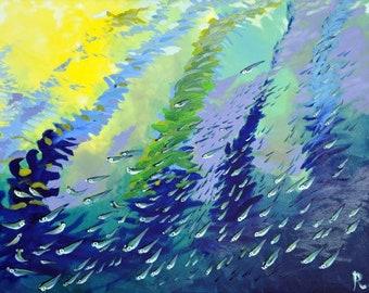 "Rhian Field Original Oil on Stretched Canvas 40"" x 30"".  'Ebb and Flow'"