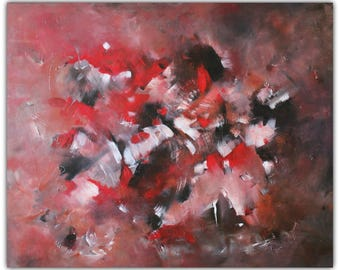 Original Abstract Painting 'Red Battle'
