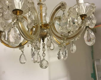 Crystal chandelier 50 he years crystal chandelier 50's