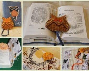 Hand made book fabric cover