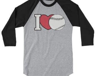 I Heart Baseball.  I Love Baseball.  Baseball Mom.  Gift For Her.  Gift For Mom.  Baseball Gift,  Baseball Shirt.