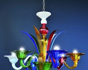 Doge Murano chandelier multicolor