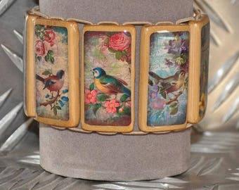 Bamboo birds bracelet