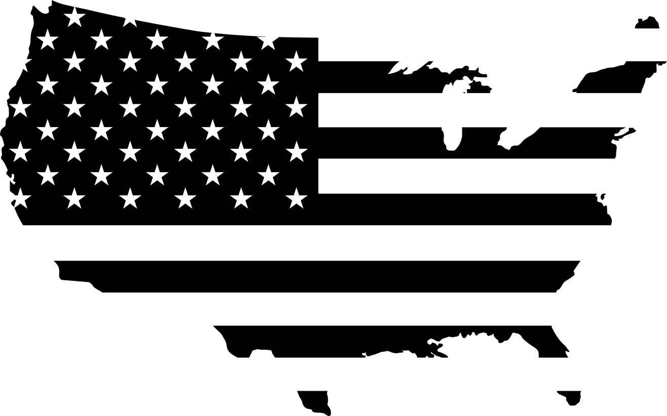 American Flag USA Graphics SVG Dxf EPS Png Cdr Ai Pdf Vector Art - United states map vector free ai