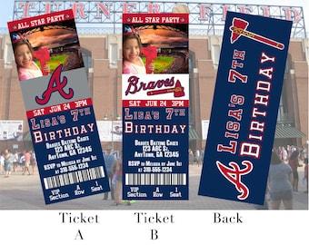 Atlanta Braves Ticket Invitation