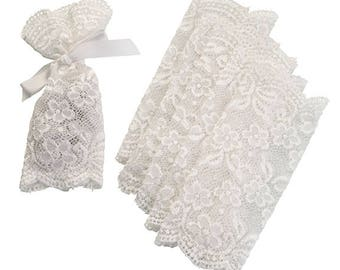 Ivory Lace Favor Bags - Set of 6 - by Lillian Rose