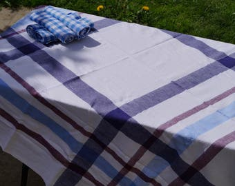 Basque tablecloth and 6 napkins cotton