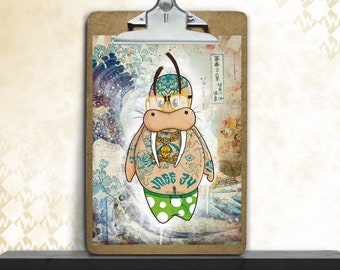 Fred, art print, posters, fine art print, art print, poster, walrus