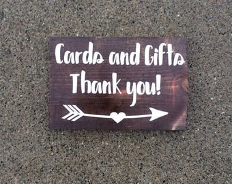 Cards and gifts, baby shower sign, birthday sign, wedding sign, gift table decor,