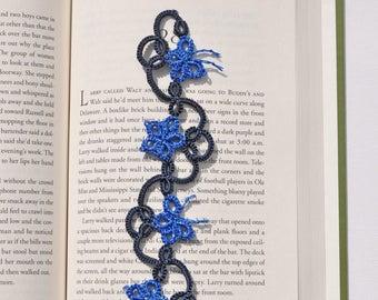 LACE BOOKMARK, handmade bookmark, flower bookmark, butterfly bookmark, tatting bookmark, handmade, lace, tatting