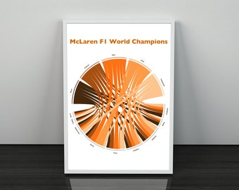 McLaren F1 World Champions Chord Diagram Statistical Infographic Wall Print