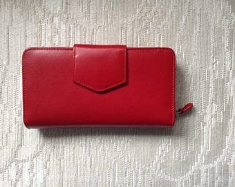 NWOT Red Leather Clutch Wallet