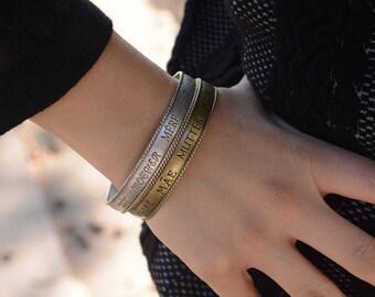 Mother of the Bride Bracelet, MOB Bracelet, Mother-of-the-Bride Gift, Gift for Mom, Vintage MOTHER Word Bracelet, Word Jewelry BR495
