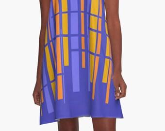 Retro Dress, Womens Gift, Dress, Summer Dress, Party Dress, , XL Dress, Retro, Mini Dress, Mod Dress, Casual Dress, Purple Dress