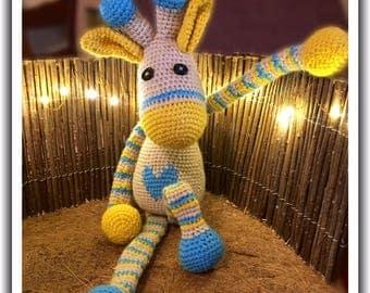 Hand Made Amigurumi Giraffe Teddy