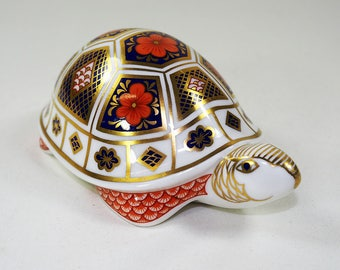 Crown Derby Porcelain Turtle Paper Weight