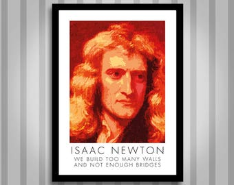 Newton, motivational, Inspirational, Self Development, Personal Development, Poster
