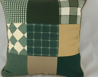 Old world inspired  patchwork cushion cover