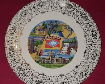 Arkansas state souvenir plate