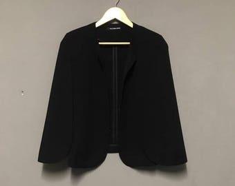 100 % Authentic Alexander Wang Tricot Blazer black & purple colour on the inside open long sleeve Size M
