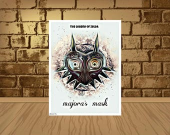 Legend of Zelda Majora's Mask Epic Game Poster - quality giclée fine art print,Majora's Mask poster,Majora's Mask print,movie