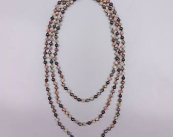 "60"" Tourmaline Knotted Necklace"