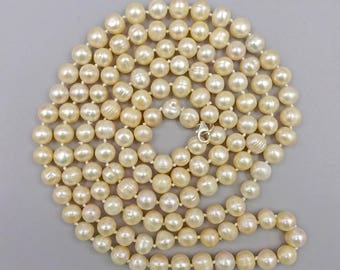 """52"""" Champagne Peal Necklace"""
