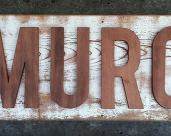 Handmade Wooden Signs, Old Wood, Reclaimed Timber, One-of-a-kind, Family Name, Handcrafted, Carpentry, Custom Orders, Gift Ideas
