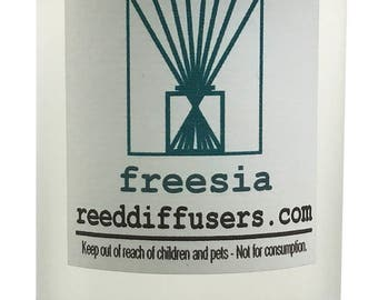 8 oz Freesia Fragrance Reed Diffuser Oil Refill - Made in the USA
