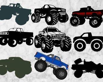 Monster Truck Svg Clipart, Monster Trucks EPS vectors, Truck car svg, png files, Tribal arrows svg, Printable truck files, vehicle, jam svg