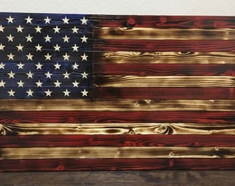 Rustic American Flag- rustic/charred ***various sizes available***