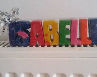 Wax letter crayons ONE LETTER