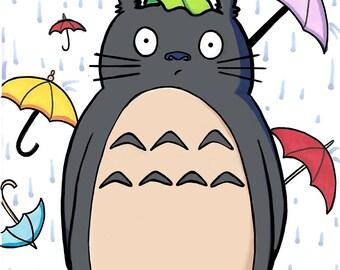 A5 Totoro print