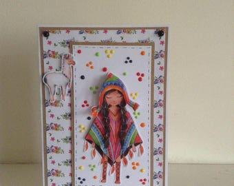Peruvian Girl card