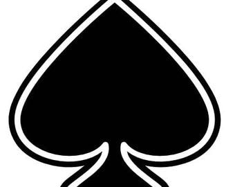 Spades decal/ spade/ Gamble/ Decal/ Stickers/ Tumblers/ Bikes/ Vehicles