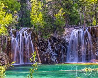 Hanging Lake photo, Glenwood Springs, Waterfall print, home decor, landscape photography
