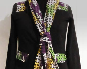 "African wax ""fabrics"" patterned cotton jacket"