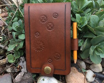 Handcrafted leather note pad
