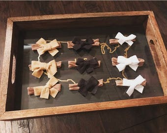 Neutral Handmade Indentionless Bows
